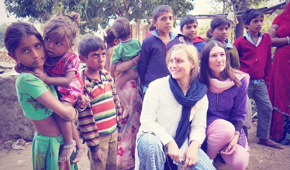 Student naturopaths in volunteering in India