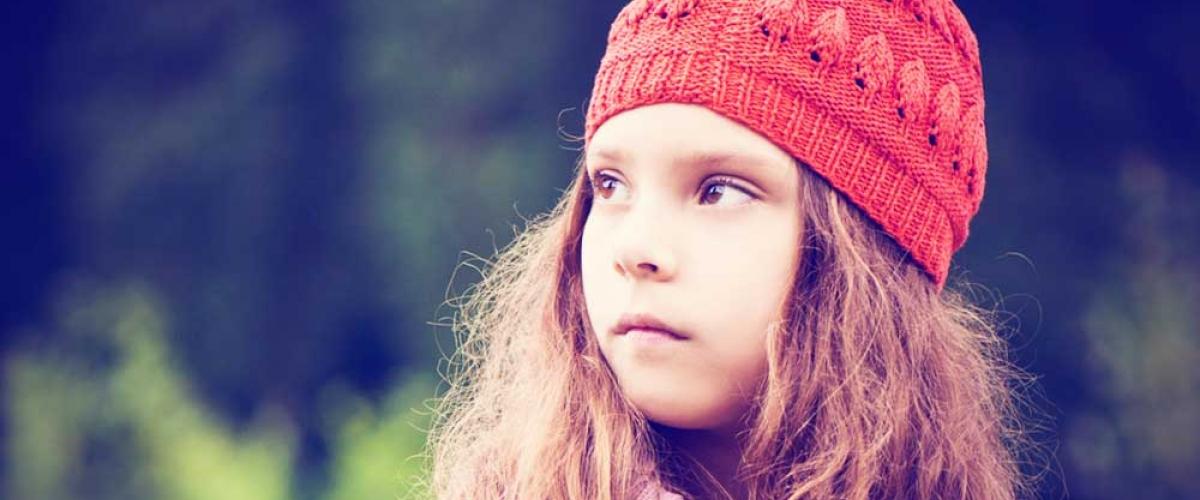 Anxious little girl