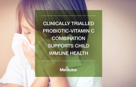 Clinically trialled probiotic-vitamin C combination supports child immune health